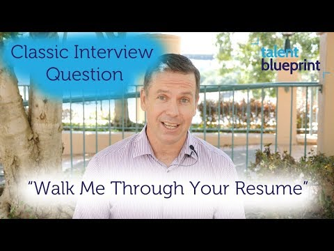 How To \ - walk me through your resume