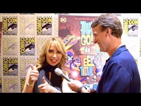 Tara Strong Interview For Teen Titans Go! Vs Teen Titans At SDCC