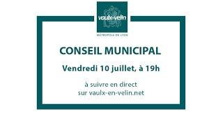 Conseil municipal<br/>10 juillet 2020