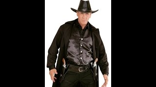 "01052 - ""BLACK AUTHENTIC WESTERN DOUBLE HOLSTER AND BELT"""