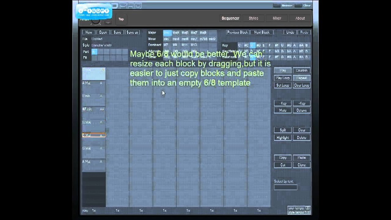 Chord sequencer - quickly create chord progressions and backing ...