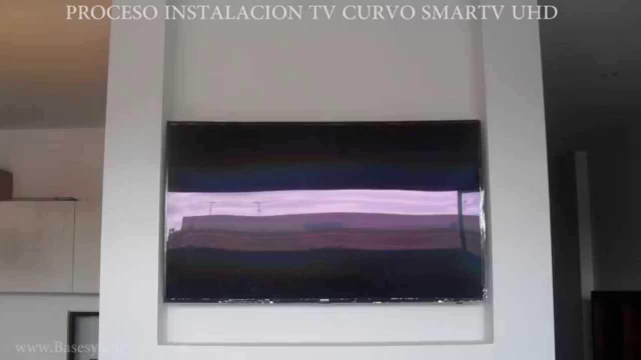 Proceso de instalaci n del soporte para televisor curvo - Instalacion de pladur en paredes ...