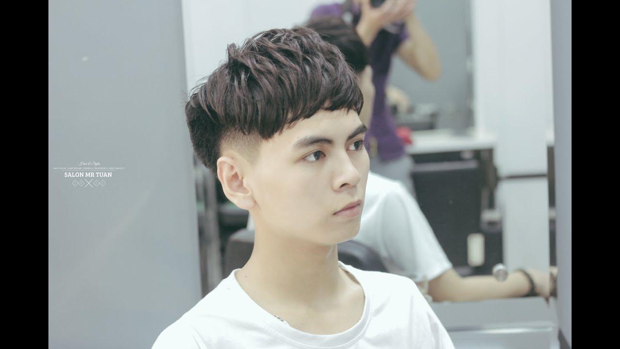 Kiểu tóc nam cạo hai bên mai với tỉa lớp layer đẹp nhất 2018 – Hair Salon Mr. Tuan