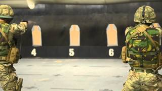 Juliet Bravo as 42 Commando let rip on police's state-of-the-art firing ranges