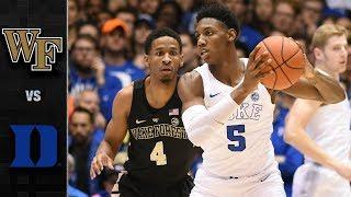 Wake Forest vs. Duke Basketball Highlights (2018-19) thumbnail