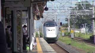 山形新幹線E3系 米沢駅発車