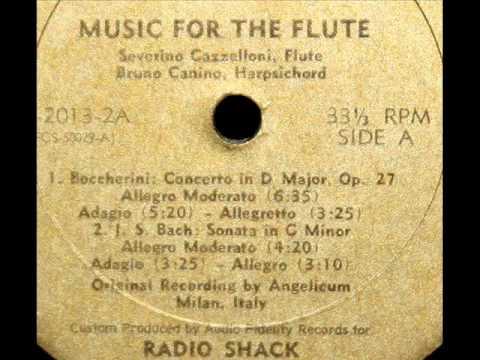 Boccherini / Severino Gazzelloni, 1950s: Concerto in D major, Op. 27, for Flute and Orchestra