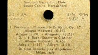Boccherini / Severino Gazzelloni, 1950s: Concerto in D major, Op. 27, for Flute and Orchestra