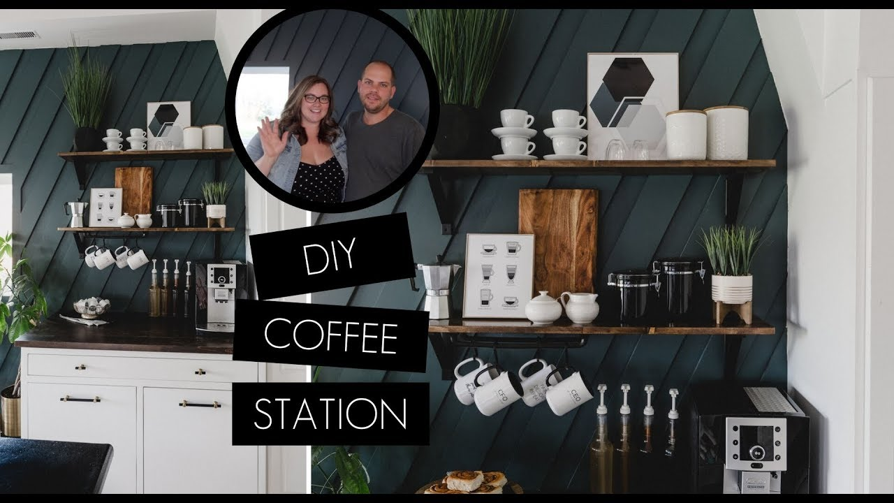 Diy Coffee Station At Home Modern Coffee Bar Styling Youtube