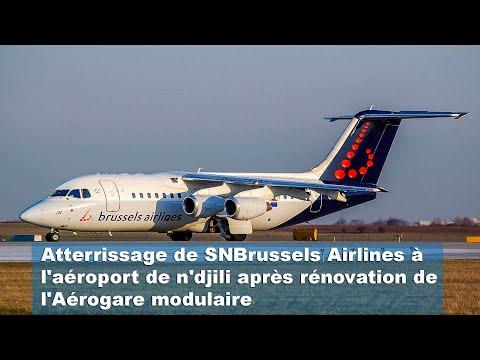 premier attérissage de SN Bruxelles à l'aéroport de n'djili après renovation