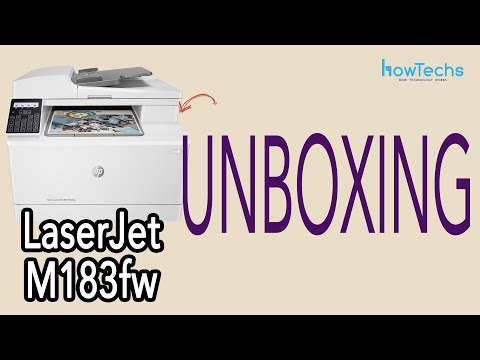 HP LaserJet Pro MFP M183fw - unboxing and intro | Howtechs