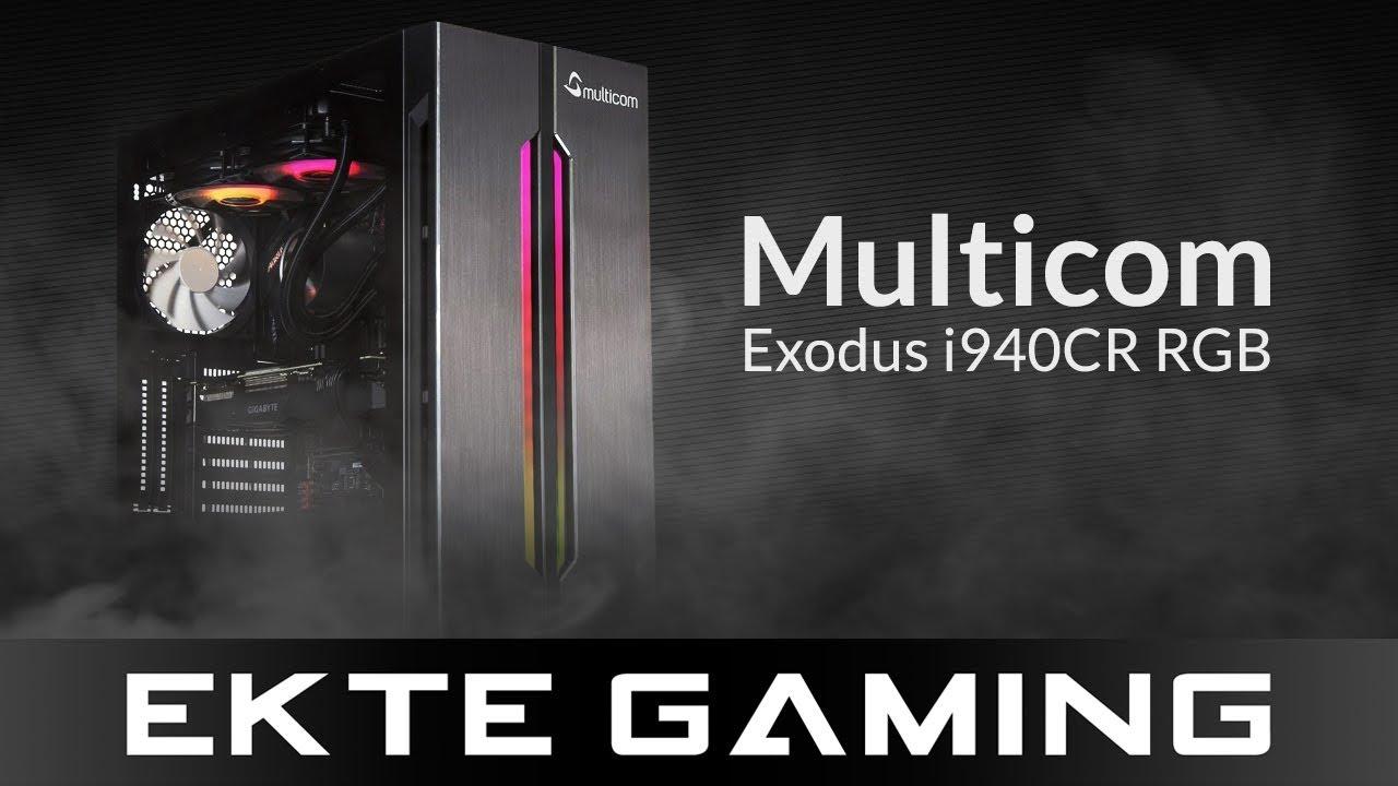 Multicom Exodus i940CR RGB Gaming PC Intel Core i9 9900K