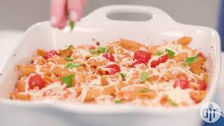 How to Make Creamy Pasta Bake with Cherry Tomatoes and Basil | Dinner Recipes | Allrecipes.com