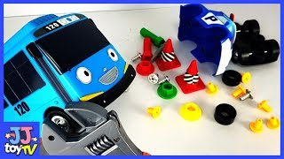 Help Me! Tayo And Poli Has An Accident. Littlebus Tayo & Roboca Poli Tool Toy Play.[Jjtoy Tv]