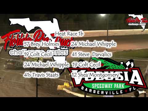 Florida Pro Truck  Challenge Series on Dirt Full Program  Volusia Speedway Park 6/22/19