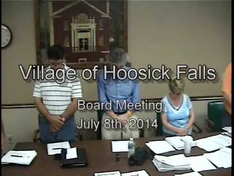 2014 - July 8th Board Meeting - Village of Hoosick Falls