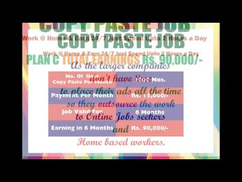 Online Copy Paste Job | Online Income | Bangalore Part Time Job | Online Job | Copy Paste Job  |