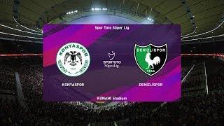 PES  2020   Konyaspor vs Denizlispor - Super Lig   08/02/2020   1080p 60FPS