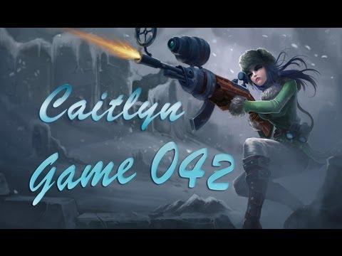【娜娜LOL實況】Game042 — Ad Caitlyn 凱特琳 — 夾子OP