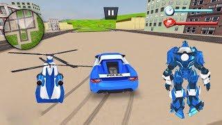US Police Robot Car Transporter Police Helicopter Game