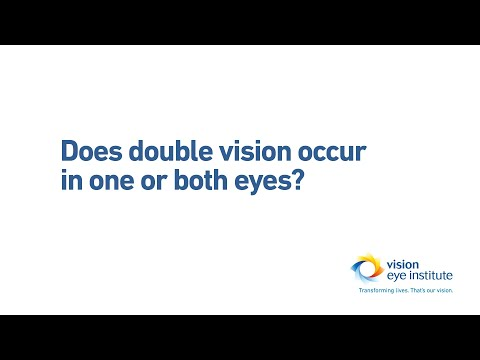 Does Double Vision Occur In One Or Both Eyes?