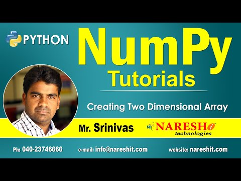Creating Two Dimensional Array in NumPy | NumPy in Python Tutorial | Mr. Srinivas thumbnail