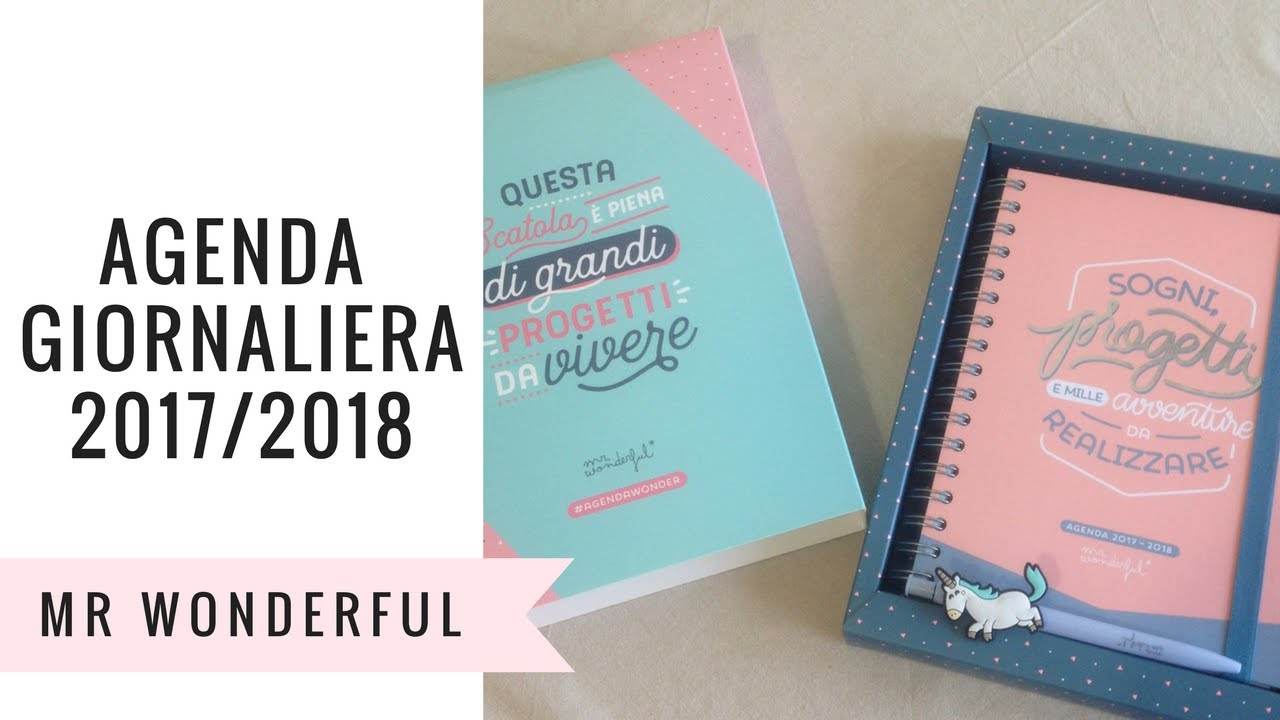 Agenda giornaliera mr wonderful 2017 2018 scopriamola - Mr wonderful agenda 2017 ...