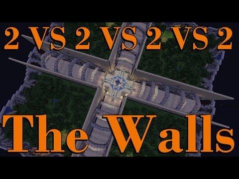 THE WALLS 2.0 - PVP SURVIVAL - 2 VS 2 VS 2 VS 2 - #3