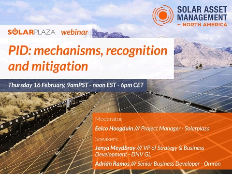 Solarplaza Webinar | Potential Induced Degradation (PID): mechanisms, recognition and mitigation.