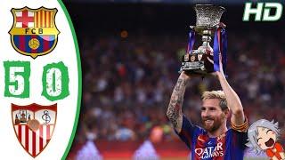 Sevilla vs Barcelona 0-5 - Resumen - Goals & Highlights (21/04/2018
