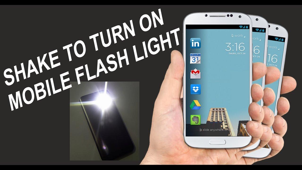 turn on flashlight android