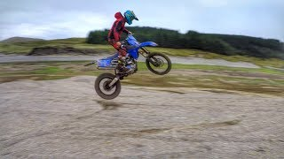 Enduro Riding The CRF250R + This Guy Is INSANE !!!