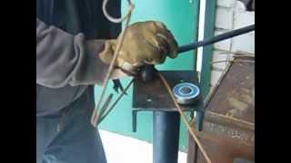 изготовление пружины капкана