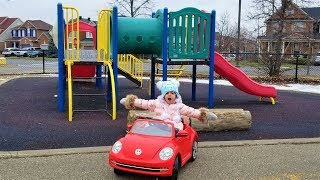 Outdoor playground power wheels ride on cars for kids