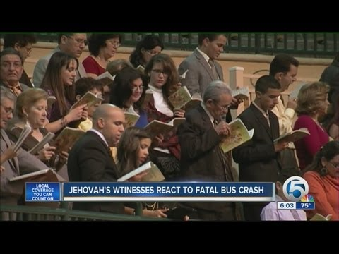 Jehovah's Witnesses react to fatal bus crash