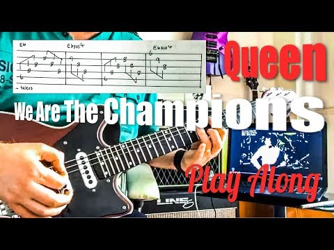 Queen - We Are The Champions - Guitar Play Along (Guitar Tab)