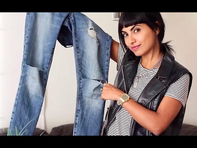 Como Cortarle Las Rodillas A Tus Jeans Youtube