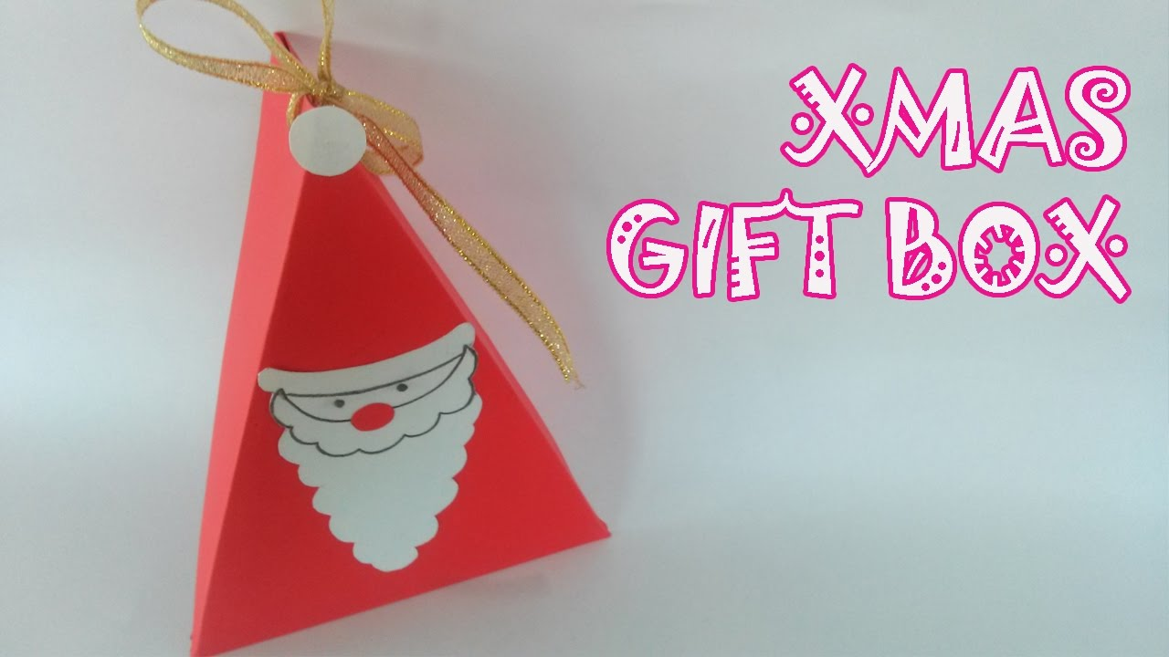 christmas gift box tutorial origami easy youtube