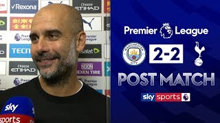 Pep reacts to VAR disallowed goal! | Pep Guardiola Post Match | Man City 2-2 Tottenham