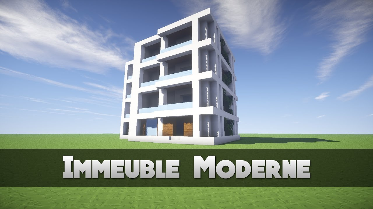 tuto immeuble moderne minecraft youtube. Black Bedroom Furniture Sets. Home Design Ideas