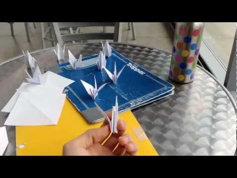 My paper crane flew away