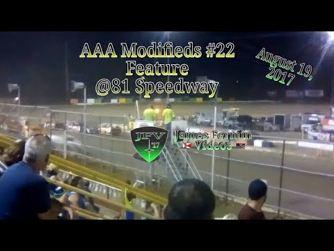 AAA Modifieds #26, Feature, 81 Speedway, 08/19/17