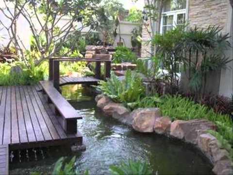 จัดสวนด้วยตัวเอง สวนหินข้างบ้าน