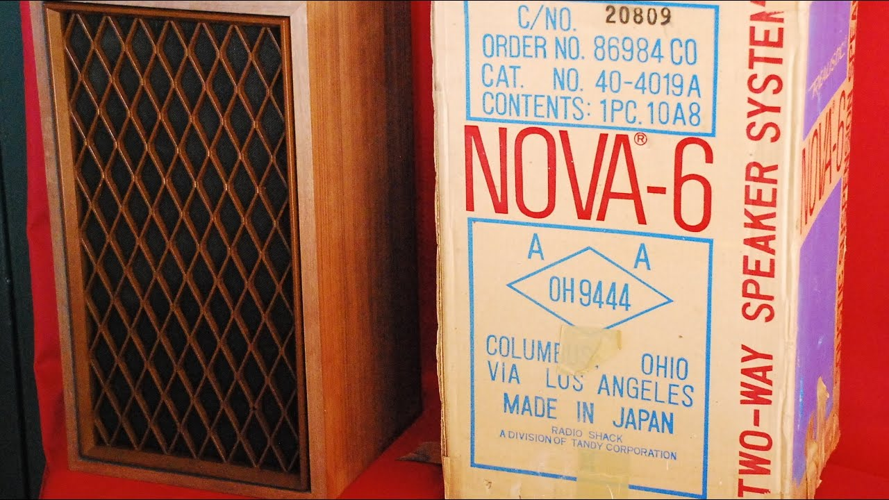Vintage Speakers  Realistic Nova-6 - Sheffield Lab Drum Solo Demo Via Home Theater