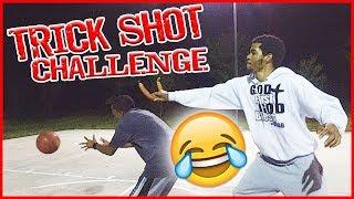 Painful Team Trick Shot Challenge  Mav3riqfam