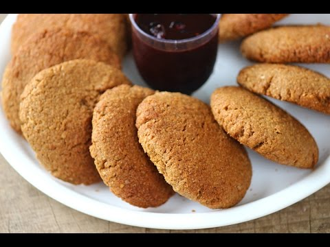 Healthy cookies made with wheat bran & nuts - very healthy and highly nutrtious