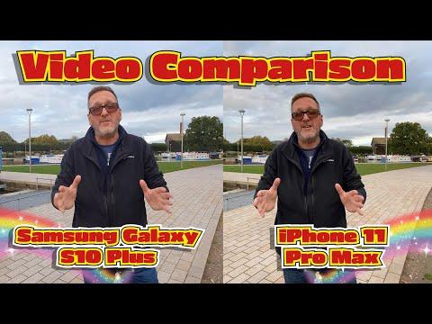 IPhone 11 Pro Max Vs Samsung Galaxy S10 Plus - Video Comparison