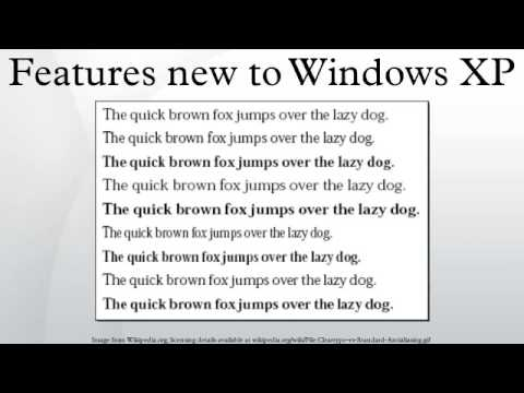 Features new to Windows XP