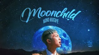 "... • artist: rm from bts song: ""moonchild"""