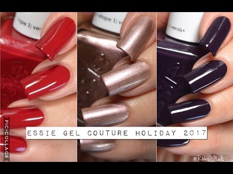 Swatches || Essie Gel Couture Holiday 2017 Collection | Rikki's Nails